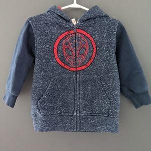 Marvel Spiderman zip up hoodie